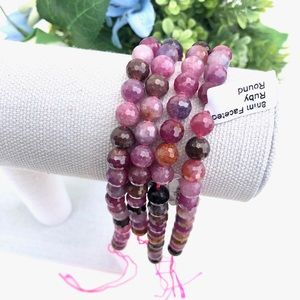 Jewelry - High Quality Genuine Ruby Faceted Round 8mm